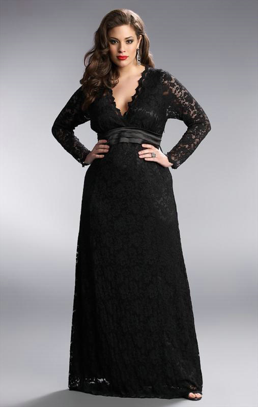 Plus Size Evening Dresses With Sleeves Wooxmen